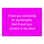 Forever in my heart greeting card