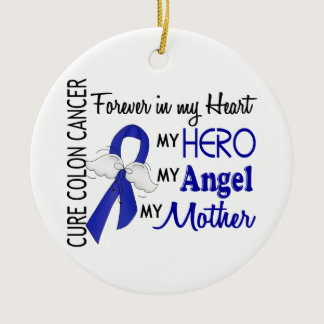 Forever In My Heart Mother Colon Cancer Ceramic Ornament