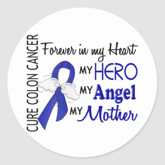 Forever In My Heart Mother Colon Cancer Classic Round Sticker