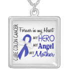 Forever In My Heart Mother Colon Cancer Silver Plated Necklace
