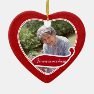 Forever in our Hearts Christmas Ceramic Ornament