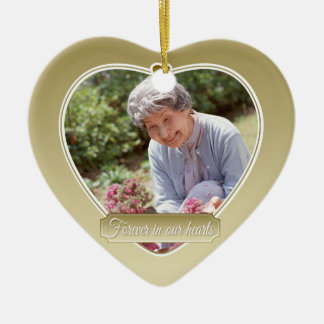Forever in our Hearts Christmas-Gold Ceramic Ornament