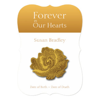 Forever In Our Hearts Rose 1 Funeral Announcement