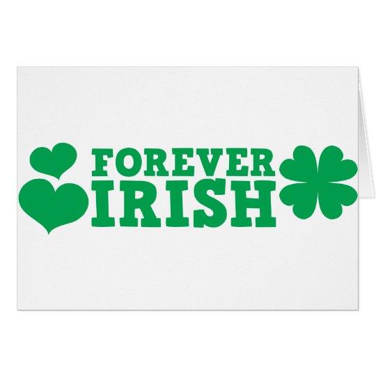 Forever irish card