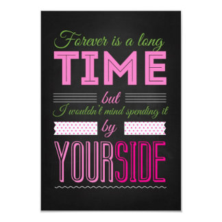 Forever is to long Time Card