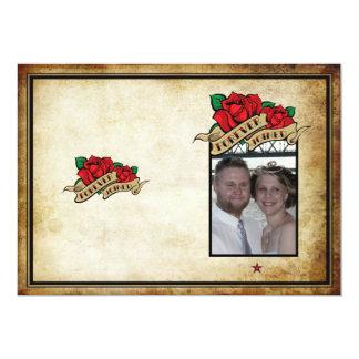 Forever Joined Rose Urban Tattoo Wedding Program Custom Announcement