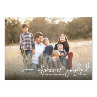 Forever Joyful Simple Holiday Photo Card