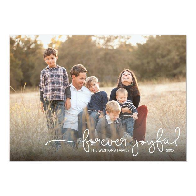 Forever Joyful Simple Holiday Photo Card