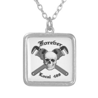 Forever Local 488 Square Pendant Necklace