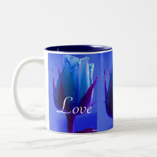 Forever Love Blue Rose Delight Two-Tone Coffee Mug
