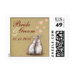 Forever Love Bunnies Save The Date Postage