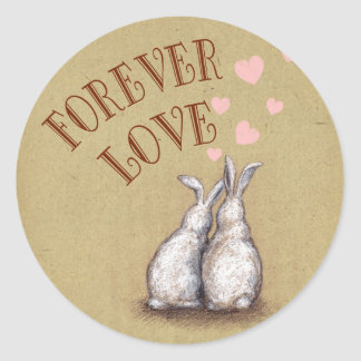 Forever Love Bunnies Sticker