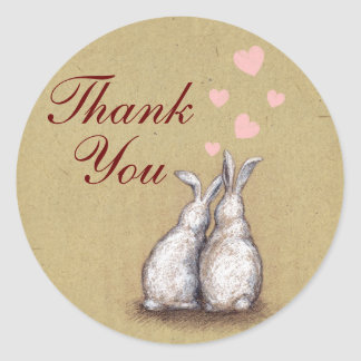 Forever Love Bunnies Thank You Sticker 2