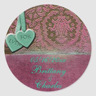 Forever Love Classic Round Sticker