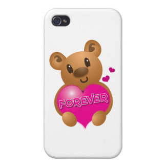 forever love cute bear case for iPhone 4