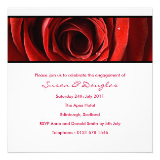 Forever Love Engagement Invitation-white