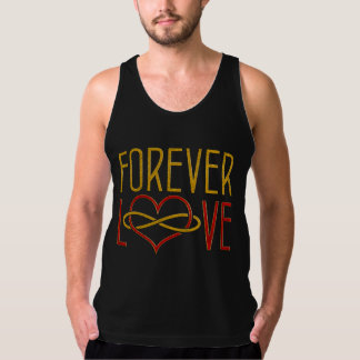 FOREVER LOVE Heart - red gold Tank Top