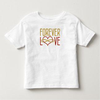 FOREVER LOVE Heart - red gold Toddler T-shirt