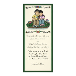 Forever Love Invitation, Asian Couple Card