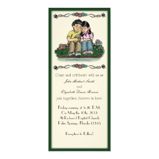 Forever Love Invitation, Black Hair Couple Card