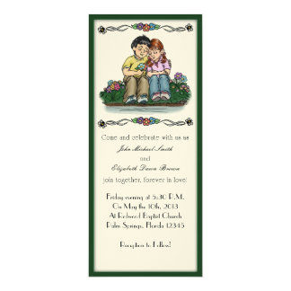 Forever Love Invitation, Black/Red Couple Card