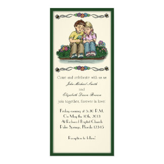 Forever Love Invitation, Brunette/Blonde Couple Card