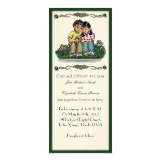 "Forever Love Invitation, Hispanic Couple 4"" X 9.25"" Invitation Card"