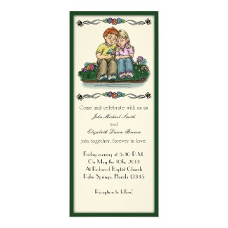 Forever Love Invitation, Red/Blonde Couple Card