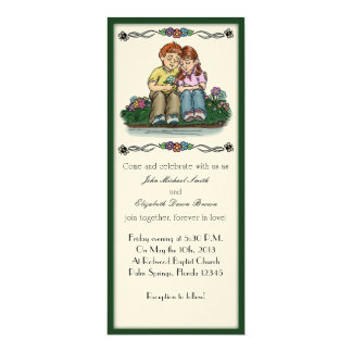 Forever Love Invitation, Red Haired Couple Card