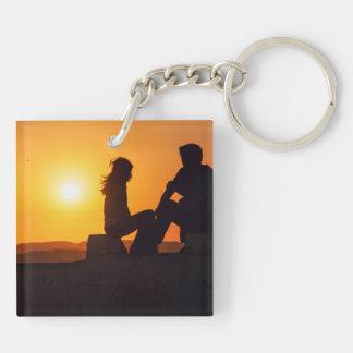 Forever Love Joy Friendship Forever Sunset Keychain