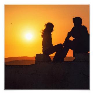 Forever Love Joy Friendship Forever Sunset Photo Print