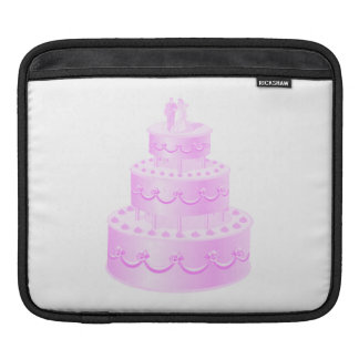 Forever Love Pink Wedding Cake iPad Sleeve