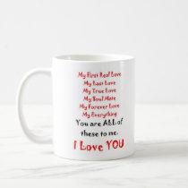 Forever Love Poem Coffee Mug