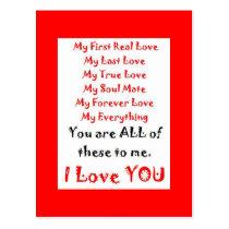 Forever Love Poem Postcard