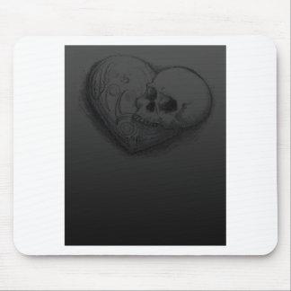 Forever Love Skull Heart Tattoo Design Mouse Pads