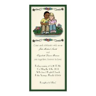 "Forever Love Wedding Invitation 4"" X 9.25"" Invitation Card"