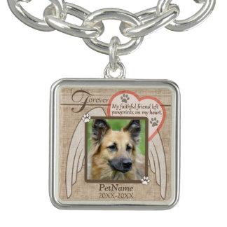 Forever Loved Angel Wings Pet Sympathy Custom Bracelet