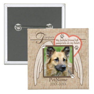 Forever Loved Angel Wings Pet Sympathy Custom Button