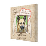 Forever Loved Angel Wings Pet Sympathy Custom Canvas Print