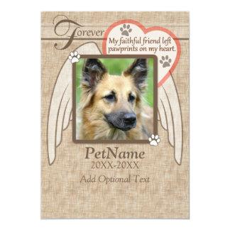 Forever Loved Angel Wings Pet Sympathy Custom Card