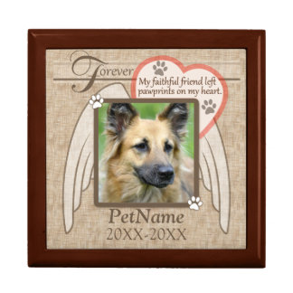 Forever Loved Angel Wings Pet Sympathy Custom Jewelry Box