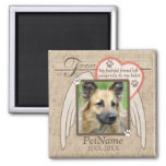 Forever Loved Angel Wings Pet Sympathy Custom Refrigerator Magnets