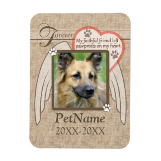 Forever Loved Angel Wings Pet Sympathy Custom Magnet