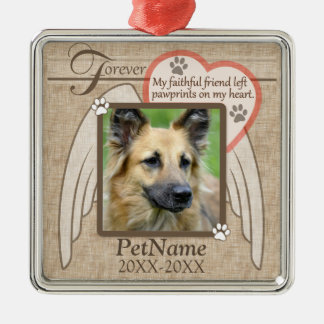 Forever Loved Angel Wings Pet Sympathy Custom Christmas Ornament