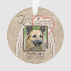 Forever Loved Angel Wings Pet Sympathy Custom Ornament at Zazzle