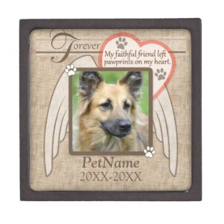 Forever Loved Angel Wings Pet Sympathy Custom Premium Jewelry Boxes