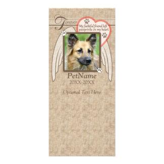 Forever Loved Angel Wings Pet Sympathy Custom Rack Card
