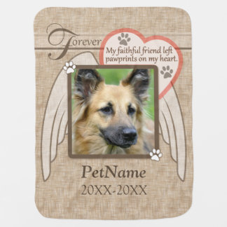 Forever Loved Angel Wings Pet Sympathy Custom Swaddle Blanket
