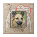 Forever Loved Angel Wings Pet Sympathy Custom Small Square Tile