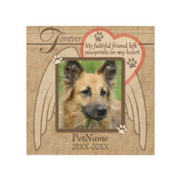 Forever Loved Angel Wings Pet Sympathy Custom Wood Wall Art